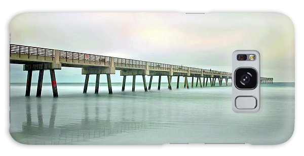 Jacksonville Beach Pier Galaxy Case
