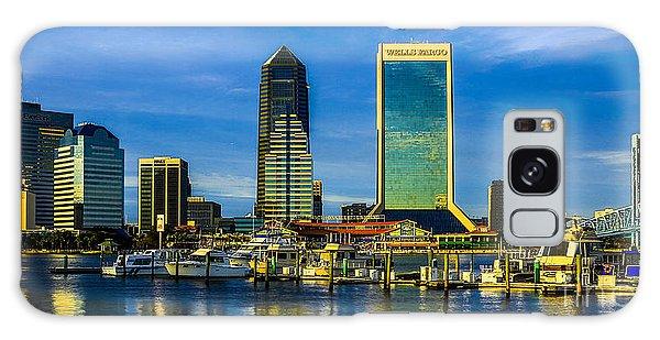 Jacksonville Skyline Sunset Galaxy Case by Paula Porterfield-Izzo
