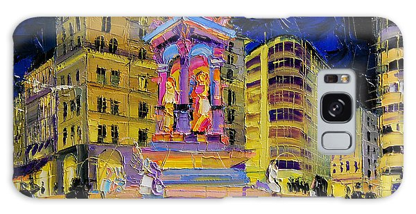 Abstract People Galaxy Case - Jacobins Fountain During The Festival Of Lights In Lyon France  by Mona Edulesco