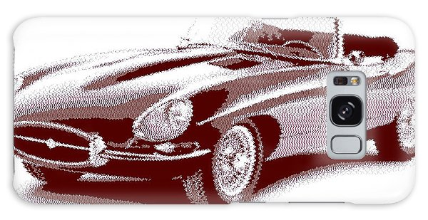 Jaguar E-type - Cross Hatching Galaxy Case
