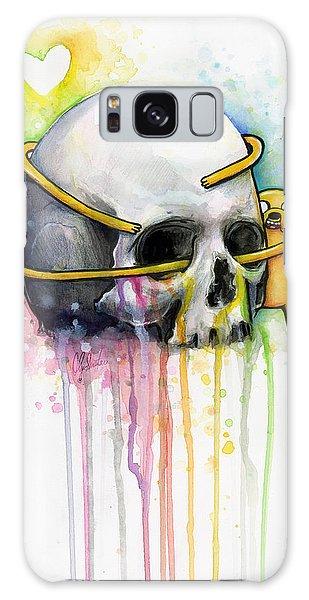 Skull Galaxy Case - Jake The Dog Hugging Skull Adventure Time Art by Olga Shvartsur