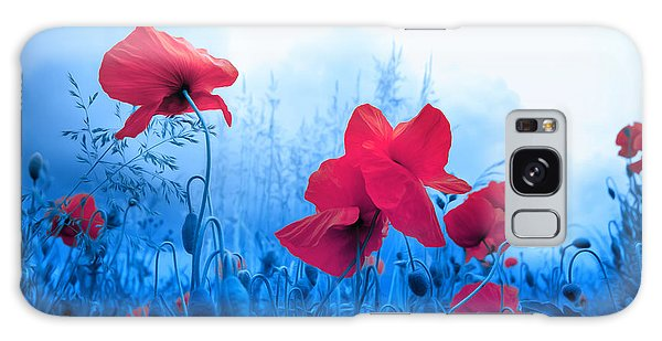 Jam With Poppies Galaxy Case by Philippe Sainte-Laudy