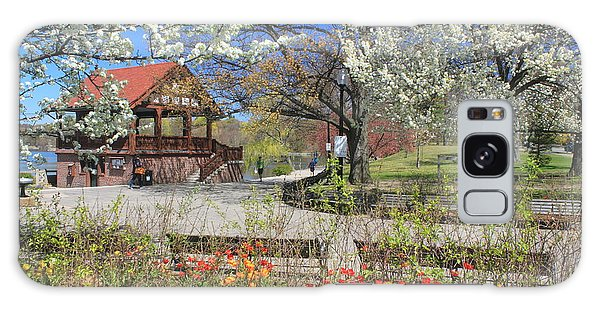 Jamaica Pond Boston In Spring Galaxy Case by John Burk