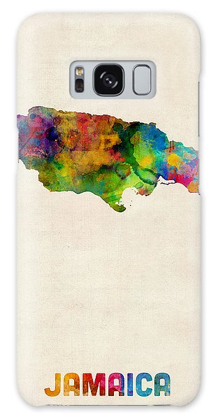 Jamaica Watercolor Map Galaxy Case