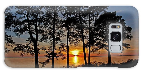 James River Sunset Galaxy Case by Suzanne Stout