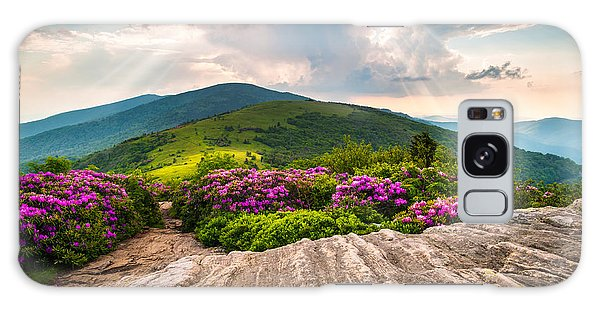 North Carolina Blue Ridge Mountains Landscape Jane Bald Appalachian Trail Galaxy Case