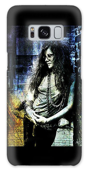 Janis Joplin - Blue Galaxy Case by Absinthe Art By Michelle LeAnn Scott