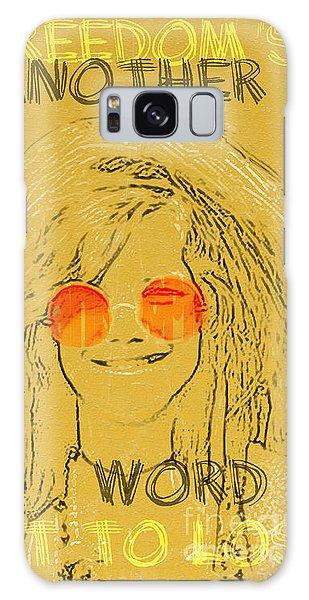 Janis Joplin Song Lyrics Bobby Mcgee Galaxy Case by Nola Lee Kelsey
