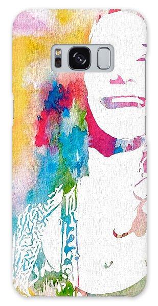 Janis Joplin Watercolor Galaxy Case