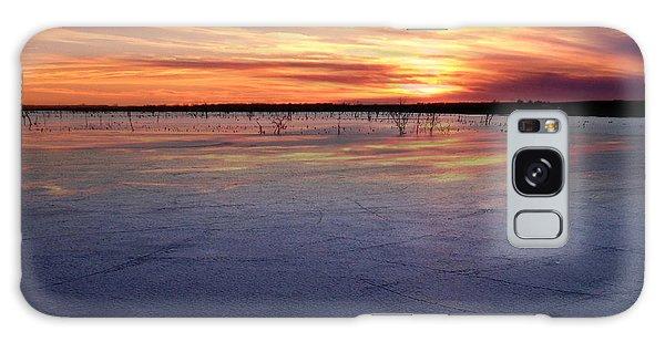 January Sunset At El Dorado Lake Galaxy Case