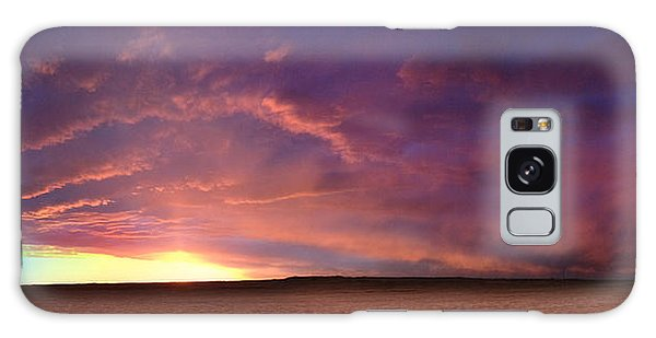 January Sunset With Cold Front Galaxy Case by Rod Seel