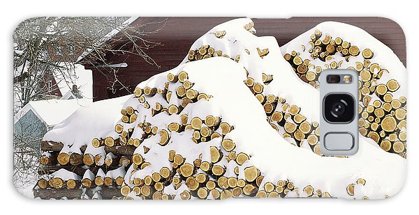 January Woodpile Galaxy Case by Alan L Graham