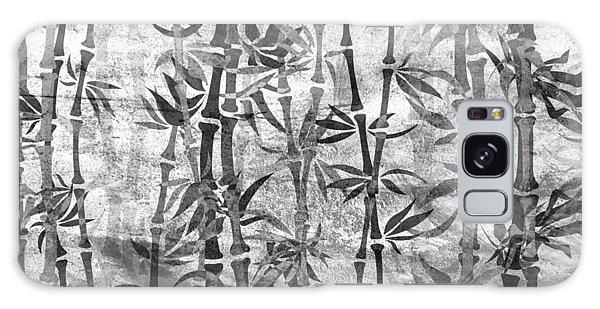 Japanese Bamboo Grunge Black And White Galaxy Case