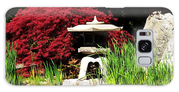 Japanese Garden Galaxy Case by Angela DeFrias