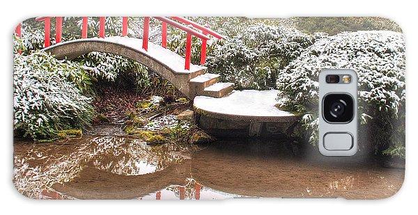 Japanese Garden Snowfall 2 Galaxy Case by Jeff Cook