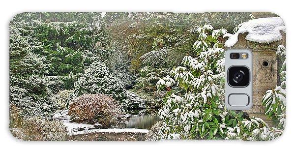 Japanese Garden Snowfall Galaxy Case by Jeff Cook