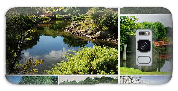 Japanese Gardens Collage Galaxy Case by Therese Alcorn