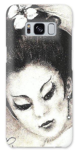 Japanese Girl. Galaxy Case by Francine Heykoop