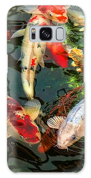 Japanese Koi Fish Pond Galaxy Case