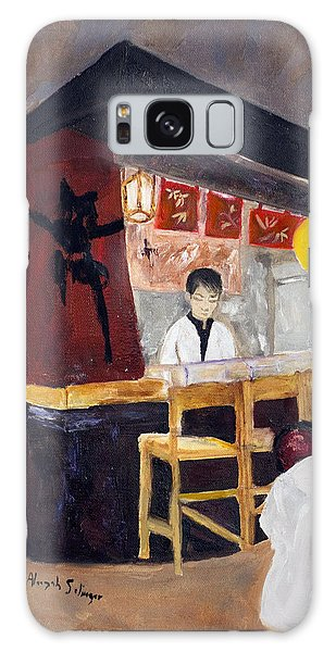 Japanese Restaurant Galaxy Case by Aleezah Selinger