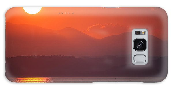 Galaxy Case featuring the photograph Japanese Sunset by Brad Brizek