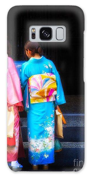 Japanese Women Wearing Beautiful Kimono Galaxy Case