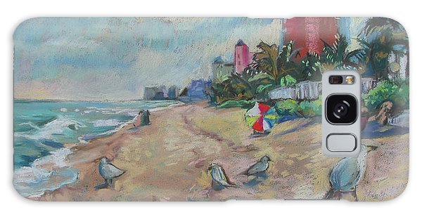 Jaunty Beach Birds Galaxy Case