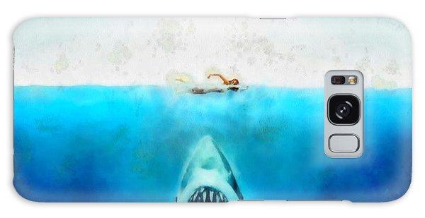 Jaws Galaxy Case by Elizabeth Coats