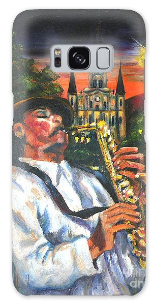 Jazz By Street Lamp Galaxy Case