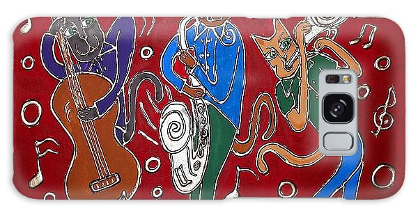 Jazz Cat Trio Galaxy Case