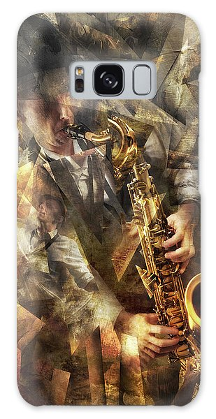 Saxophone Galaxy Case - Jazz by Christophe Kiciak