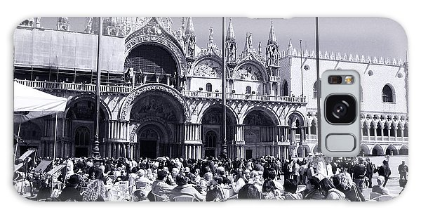 Jazz In Piazza San Marco Black And White  Galaxy Case