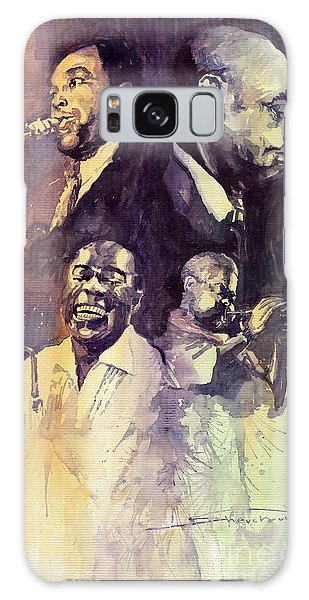 Portret Galaxy Case - Jazz Legends Parker Gillespie Armstrong  by Yuriy Shevchuk
