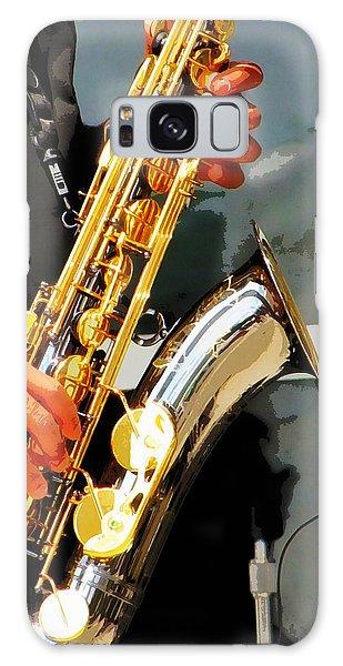 Jazz Man Galaxy Case by John Freidenberg