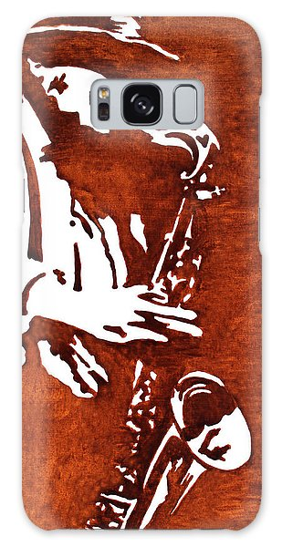 Jazz Saxofon Player Coffee Painting Galaxy Case
