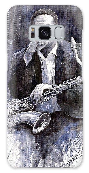 Watercolour Galaxy Case - Jazz Saxophonist John Coltrane Black by Yuriy Shevchuk