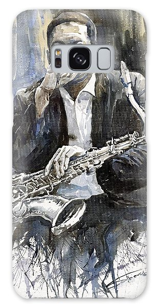 Galaxy Case - Jazz Saxophonist John Coltrane Yellow by Yuriy Shevchuk