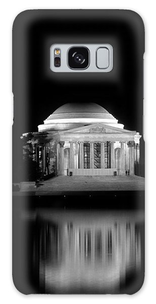Jefferson Memorial At Night In Black And White Galaxy Case