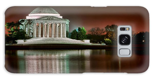 Jefferson Memorial At Night Galaxy Case