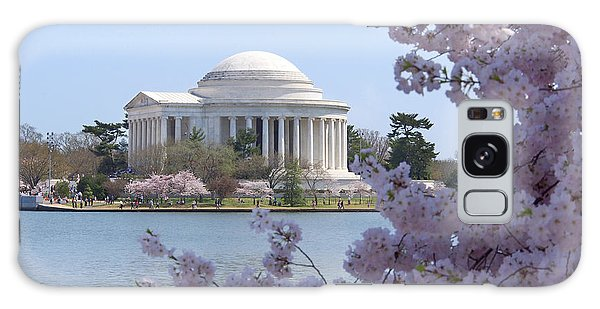 Jefferson Memorial - Cherry Blossoms Galaxy Case