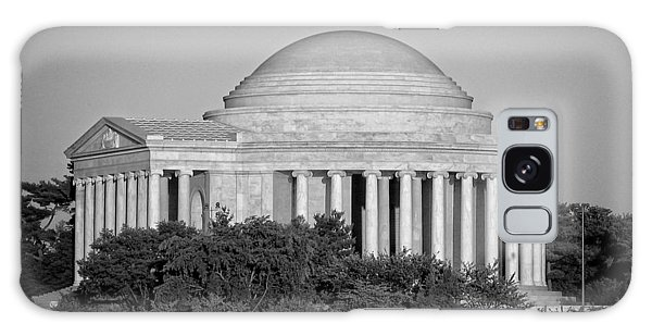 Jefferson Memorial In Black And White Galaxy Case