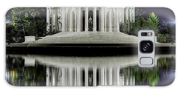 Jefferson Memorial - Night Reflection Galaxy Case