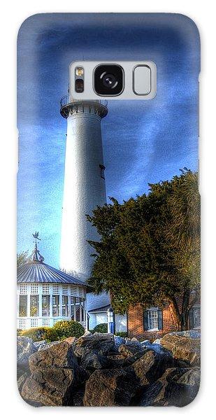 Jekyll Island Lighthouse Galaxy Case by Donald Williams