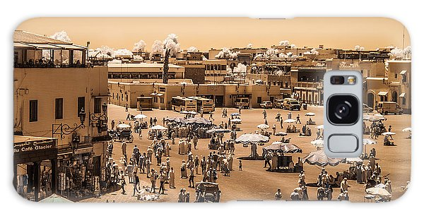 Jemaa El Fna Market In Marrakech At Noon Galaxy Case