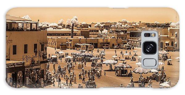 Jemaa El Fna Market In Marrakech At Noon Galaxy Case