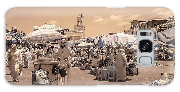 Jemaa El Fna Market In Marrakech Galaxy Case