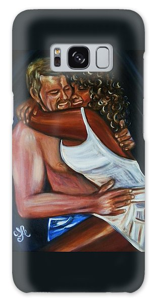 Jenny And Rene - Interracial Lovers Series Galaxy Case