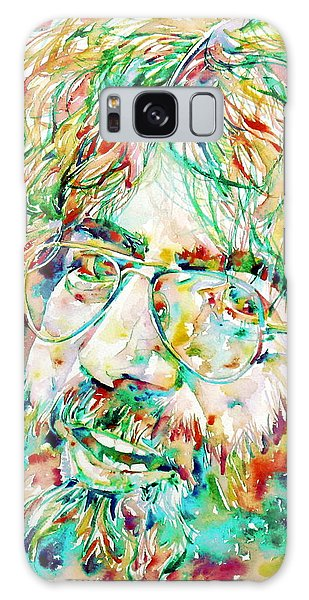 Jerry Garcia Watercolor Portrait.1 Galaxy Case