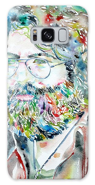 Jerry Garcia Watercolor Portrait.2 Galaxy Case