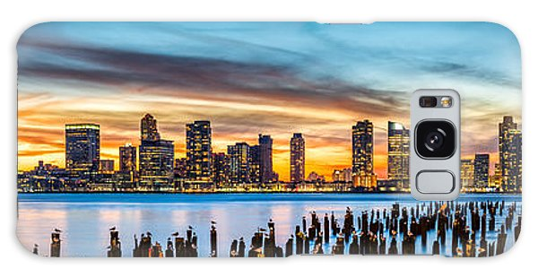 Jersey City Panorama At Sunset Galaxy Case by Mihai Andritoiu